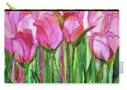 Tulip Bloomies 3 - Pink Carry-all Pouch