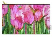Tulip Bloomies 4 - Pink Carry-all Pouch