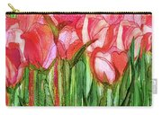Tulip Bloomies 4 - Red Carry-all Pouch