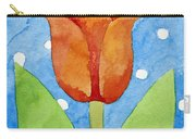 Tulip Blue White Spot Background Carry-all Pouch