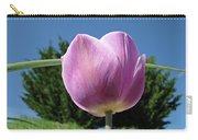 Tulip Flower Landscape Art Print Purple Tulips Baslee Carry-all Pouch