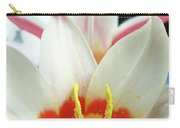 Tulip Flowers Art Prints 4 Spring White Tulip Flower Macro Floral Art Nature Carry-all Pouch