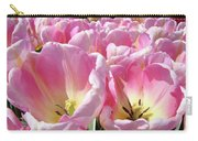 Tulip Flowers Garden Art Pink Tulips Baslee Troutman Carry-all Pouch