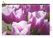 Tulip Garden Flowers Purple Lavender Pastel Art Baslee Troutman Carry-all Pouch