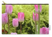 Tulip Garden Landscape Art Prints Pink Tulips Floral Baslee Troutman Carry-all Pouch