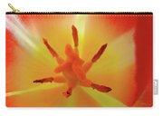 Tulip Inside Flower Orange Tulips Art Prints Baslee Carry-all Pouch