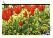 Tulip Lawn On The Flower Island Mainau. Germany. Carry-all Pouch