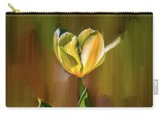 Tulip White Yellow Petals #h5 Carry-all Pouch