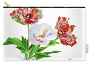 Tulips And Pink White Peony Carry-all Pouch