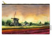 Tulips And Windmill From The Netherlands Carry-all Pouch