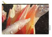 Tulips Artwork Flowers Floral Art Prints Spring Peach Tulip Flower Macro Carry-all Pouch