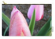 Tulips Artwork Pink Tulip Flowers Srping Florals Art Prints Baslee Troutman Carry-all Pouch