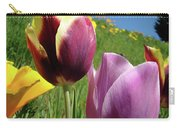 Tulips Artwork Tulip Flowers Spring Meadow Nature Art Prints Carry-all Pouch