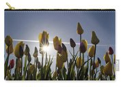 Tulips Blooming With Sun Star Burst Carry-all Pouch
