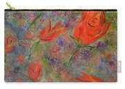 Tulips- Floral Art- Abstract Painting Carry-all Pouch