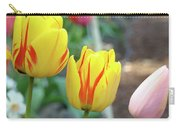 Tulips Garden Art Prints Yellow Red Tulip Flowers Baslee Troutman Carry-all Pouch
