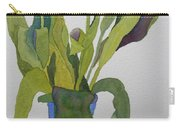 Tulips In Blue Vase Carry-all Pouch