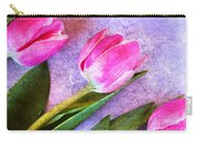 Tulips Meets Texture Carry-all Pouch