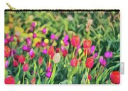 Tulips. Monet Style Digital Painting. Carry-all Pouch