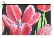 Tulips On Black Carry-all Pouch