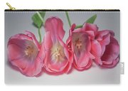 Tulips On White Carry-all Pouch