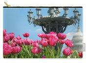 Tulips With Bartholdi Fountain Carry-all Pouch