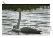Tundra Swan And Signets Carry-all Pouch