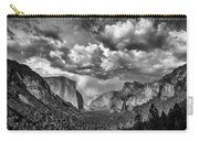 Tunnel View In Black And White Carry-all Pouch