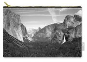 Tunnel View Yosemite B And W Carry-all Pouch