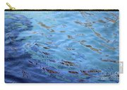 Turquoise And Blue Swirls Large Canvas Carry-all Pouch