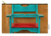 Turquoise And Red Chair Carry-all Pouch