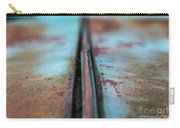 Turquoise And Rust Abstract Carry-all Pouch