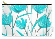 Turquoise Bloom Carry-all Pouch