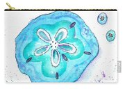 Turquoise Blue Sand Dollar Shells Carry-all Pouch