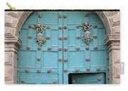 Turquoise Cusco Church Door Carry-all Pouch