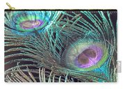 Turquoise Feather Carry-all Pouch