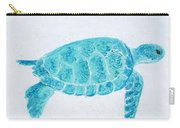 Turquoise Marine Turtle Carry-all Pouch