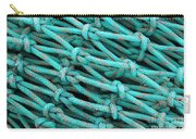Turquoise Nets Carry-all Pouch