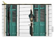 Turquoise Shutters Carry-all Pouch