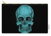 Turquoise Skull Carry-all Pouch