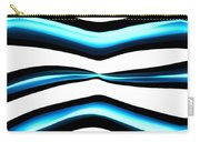 Turquoise Teal Abstract Lines Carry-all Pouch