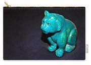 Turquoise Tiger Carry-all Pouch