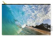 Turquoise Wave Tube Carry-all Pouch