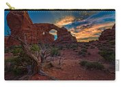 Turret Arch At Sunset Carry-all Pouch