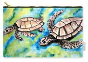 Turtle Love Pair Of Sea Turtles Carry-all Pouch