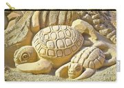 Turtle Sand Castle Sculpture On The Beach 999 Carry-all Pouch