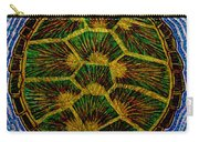 Turtle Shell Mandala Sparkle Carry-all Pouch