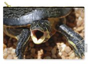 Turtle With His Mouth Wide Open  Carry-all Pouch