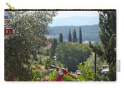 Tuscan Landscape And Scooter Carry-all Pouch