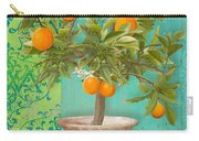 Tuscan Orange Topiary - Damask Pattern 2 Carry-all Pouch